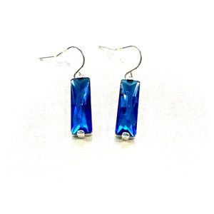 NWT -  Silver plated crystal Earrings